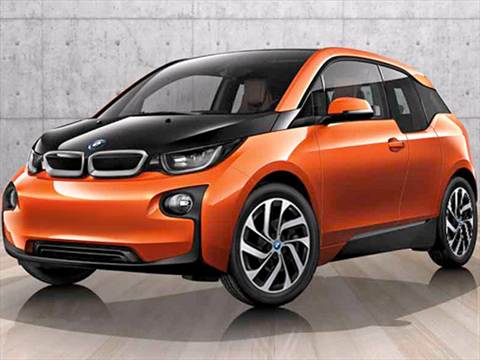 2015 BMW i3 orange & black