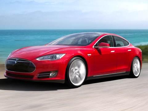 2016 Tesla Model S red